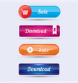 colorful website buttons design vector image vector image