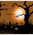 Creepy tree Halloween background with full moon