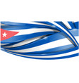 cuba banner background flag vector image vector image