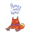 cute baby fox in cozy ornament scarf winter vector image vector image