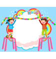 decorating kids vector image