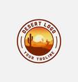 desert logo vector image vector image