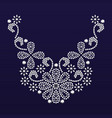 diamond jewelry necklace vector image vector image