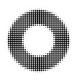 donut halftone dotted icon vector image vector image