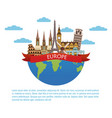 europe travel infographic vector image vector image