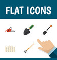 flat icon garden set of tool hacksaw trowel and vector image
