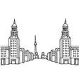 Frankfurter Tor Berlin vector image