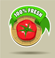 Fresh tomato sticker vector image vector image