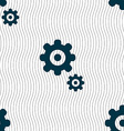 gears icon sign Seamless pattern with geometric vector image