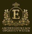 golden encrusted letters and initial monogram vector image vector image