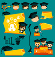 Graduation Infographic and Mascot vector image