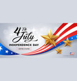 happy independence day flag america golds stars vector image vector image