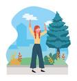 human woman body cartoon vector image vector image