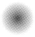 item halftone circle on a white background vector image vector image