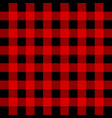 lumberjack buffalo plaid seamless pattern red and vector image