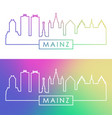 mainz skyline colorful linear style editable vector image vector image