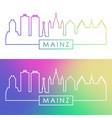 mainz skyline colorful linear style editable vector image