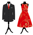 Man suit and woman dress vector image