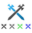 medieval swords flat gradient icon vector image vector image