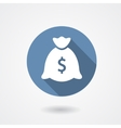 Money bag blue icon vector image