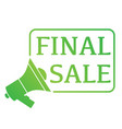 mouthpiece final sale vector image