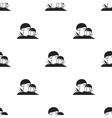 Mushroom icon in black style isolated on white vector image vector image