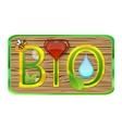 nature bio symbol vector image vector image