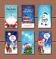 new year and christmas cards collection decorated vector image