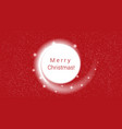new year red background white blizzard and stars vector image vector image