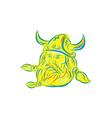 Norseman Viking Beard Etching vector image vector image