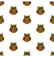 owl scientist pattern vector image