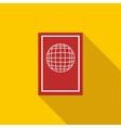 Passport icon flat style vector image vector image