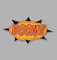 pop art bomb boom vector image vector image