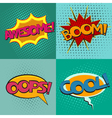 pop art speech bubbles set vector image vector image