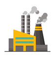 power plant building with smoking chimneys vector image vector image