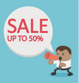 product reduction attitude sale up to 50 vector image
