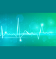 pulse line with lighting dots vector image vector image