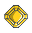 radiant diamond in a flat style vector image vector image