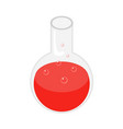 red potion icon isometric style vector image