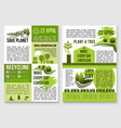 save planet nature recycling concept poster vector image