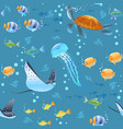 sea life pattern vector image vector image
