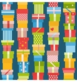 Seamless pattern with presents vector image vector image