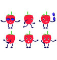 set cartoon funny raspberry vector image vector image