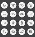 set of 16 editable animal outline icons includes vector image vector image