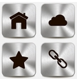 Set of web icons on metallic buttons vol2 vector image vector image