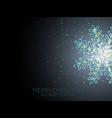 shining snowflake background vector image