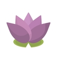 spa flower lotus isolated icon vector image