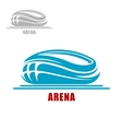 Sports arena or stadium icon vector image vector image
