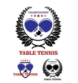 Table tennis emblems vector image vector image