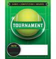 Tennis Tournament Template vector image vector image